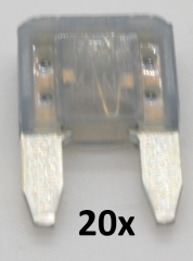 Automotive Mini Flat Blade Fuses 2A (20 pieces)