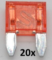 Automotive Mini Flat Blade Fuses 10A (20 pieces)