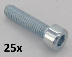 Hexagon socket head cap screws DIN912 M5x50 zinc plated (25 pcs.)