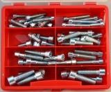 Assortment cylinder screws DIN912 zinc plated, 54-pieces