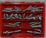 Assortment countersunk screws DIN 7991 zinc plated, 55-pieces