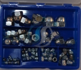 Assortment cap nuts DIN 1587 zinc plated, 67-pieces