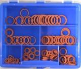 Assortment vulkanised fibre rings 111-pieces