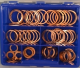 Assortment copper gaskets DIN 7603 81-pieces