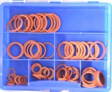 Assortment vulkanised fibre rings 96-pieces