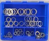 Assortment aluminium gaskets 121-pieces