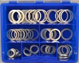 Assortment aluminium gaskets 81-pieces