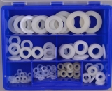 Assortment insulation washers DIN 125 nature 186-pieces
