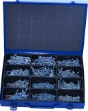 Assortment machine screws DIN 933 M4 - M6 zinc plated, 561-pieces