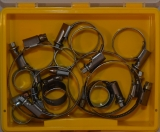 Assortment hose clamps, 12 mm bandwidth, 17-pieces