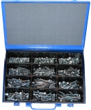 Assortment carriage bolt DIN 603 with nut M5-M8, zinc plated, 201-pieces