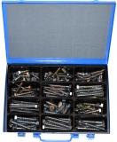 Assortment woodscrews 10-12 mm DIN571 zinc plated 116-pieces