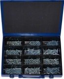 Assortment cylinder screws DIN 912 M4+M5 zinc plated, 361-pieces