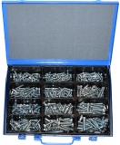 Assortment cylinder screws DIN 912 M6+M8 zinc plated, 331-pieces