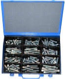 Assortment cylinder screws DIN 912 M10+M12 zinc plated, 121-pieces