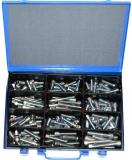 Assortment cylinder screws DIN912 M10+M12 zinc plated, 121-pieces