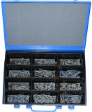 Assortment countersunk screws DIN 7991 M4+M5 zinc plated, 361-pieces