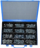 Assortment countersunk screws DIN 7991 M6+M8 zinc plated, 331-pieces