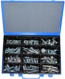 Assortment countersunk screws DIN 7991 M10+M12 zinc plated, 121-pieces