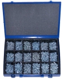 Assortment self-tapping screws DIN 7981 / 7983 zinc plated, 901-pieces