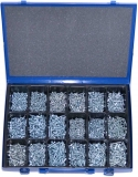 Assortment self-tapping screws DIN 7981 zinc plated, 1801-pieces