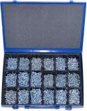 Blechschrauben-Sortiment DIN7983 verzinkt, 1801-teilig