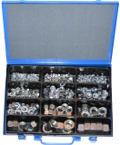 Assortment hexagonal nuts DIN 934 zinc plated, 471-pieces