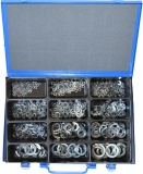 Assortment spring washer DIN127 zinc plated, 601-pieces