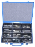 Assortment clamping sleeves 4,0 - 5,0 mm DIN 1481, 301-pieces