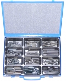 Assortment clamping sleeves 10,0 - 16,0 mm DIN 1481, 106-pieces