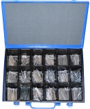 Assortment splints DIN 94 zinc plated, 781-pieces