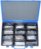Assortment splints DIN 94 zinc plated, 331-pieces