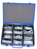 Assortment splints DIN 94 zinc plated, 186-pieces
