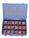 Assortment vulkanised fibre rings 451-pieces