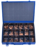 Assortment copper gaskets DIN 7603 366-pieces