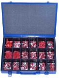 Assortment terminals red, 0.5-1.5mm², 321-pieces