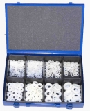 Assortment insulation washers DIN 125 nature 701-pieces