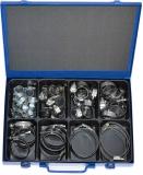 Schlauchschellen-Sortiment, 12 mm Bandbreite, 56-teilig