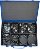 Assortment hose clamps, 12 mm bandwidth, 56-pieces