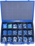 Assortment terminals blue, 1,5-2,5mm², 321-pieces