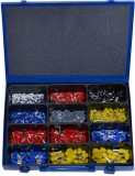 Assortment insulated wire ferrules 901-pieces