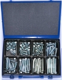 Assortment stainless steel machine screws DIN 931 / 933 A2, M12, 71-pieces