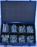 Assortment stainless steel machine screws DIN 931 / 933 A2, M10, 71-pieces