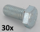 Machine Screws DIN 933 M4x20 zinc plated (30 pcs.)