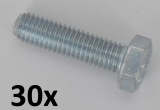 Machine Screws DIN 933 M4x30 zinc plated (30 pcs.)