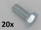 Machine Screws DIN933 M10x25 zinc plated (20 pcs.)
