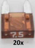 KFZ Mini-Flachstecksicherungen 7,5 A (20 Stück)