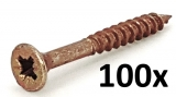 chipboard screws 4x35, countersunk cross head (100 pcs.)