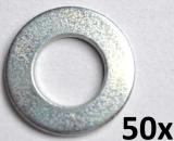 Unterlegscheiben nach DIN 125-A, M6 verzinkt (50 Stück)