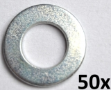 Washers DIN125-A, M8 zinc plated (50 pieces)